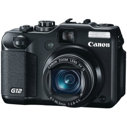 Christmas Canon G12 10 MP Digital Camera with 5x Optical Image Stabilized Zoom and 2.8 Inch Vari-Angle LCD Deals