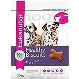 Eukanuba Healthy Biscuits Puppy, Hundekekse für Welpen, Hundesnack zur Belohnung für alle Rassen bis 12 Monate, enthält viel tierisches Protein, 6 Packungen (6 x 200 g)