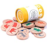 USATDD Wooden Memory Matching Game Match Stacks Educational Toy Early Development Learning Puzzle (Wildlife Animals) (Color: Wildlife Animals)