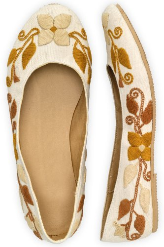 Guie Shoes Autumn Blossom Hand Embroidered Ballet Flats