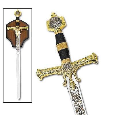 Sword of King Solomon Templar Medieval Replicated Black