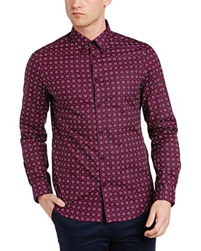 Ben Sherman Camisa Hombre Ls Mid Geo Target Azul Royal