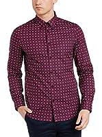 Ben Sherman Camisa Hombre Ls Mid Geo Target (Rojo)