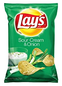Lay's Potato Chips, Sour Cream and Onion, 9.5 Oz