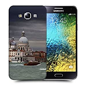 Snoogg Black Cloud Printed Protective Phone Back Case Cover ForSamsung Galaxy E5