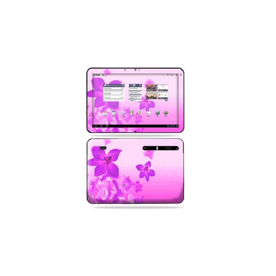 Protective Vinyl Skin Decal Cover for Motorola Xoom Tablet sticker skins Pink Flowers