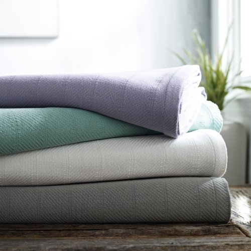 Under The Canopy 1C92031 Purity Blanket, Full/Queen, Balance Grey front-885235