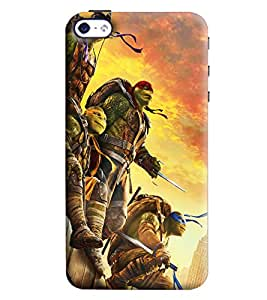 Blue Throat Cartoon Man With Sword Printed Designer Back Cover/Case For Apple iPhone 4s