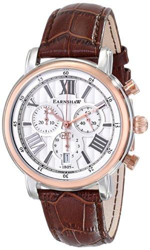 Earnshaw Men's ES-0016-06 Longcase Analog Display Swiss Quartz Brown Watch