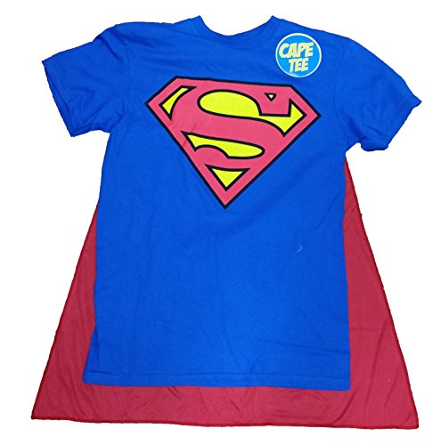 DC Comics Superman Man of Steel Costume with Cape Graphic T-Shirt