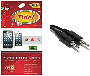 Tidel Ulta Clear Screen Guard for Micromax Bolt A064 With Aux Cable