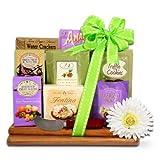 Elegant Easter Gourmet Spring Gift Basket with Italian Cookies