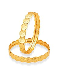 Sukkhi Intricately Gold Plated Temple Jewellery Bangles For Women
