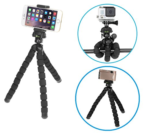 iKross Universal Smartphone / GoPro / Digital Camera Flexible Tripod Stand Holder