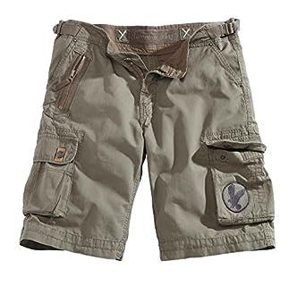 Surplus Homme XYLONTUM Shorts, Couleur: Oliv, Taille: s
