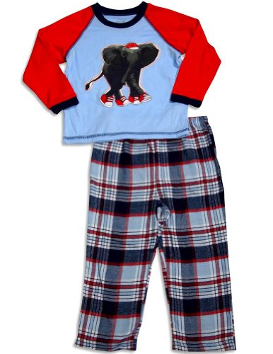 Little Me - Baby Boys Long Sleeve Pajamas, Light Blue, Red, Navy 30769-12Months front-869459