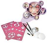 Face Painting Kit For Parties (Paints 50 - 80 Faces) FDA Compliant, Non-Toxic Paint - Vibrant Colors, Done-For-You Stencils, Shimmering Glitter Gels, Versatile Brushes, Sponges, 1 Foam Applicator