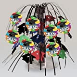 Creative Converting 202331 Grad Balloons Graduation Mini Cascade Centerpiece