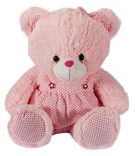 Dhoom-Soft-Toys-Teddy-Bear-Girl-Dress-Dress-Colors-May-Change-Pink-35-CM
