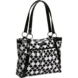 Kailo Chic Women's Pleated Laptop Tote (Mod Circles)