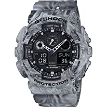 buy Casio G-Shock Marble Edition Camouflage Series Grey Watch Ga100Mm-8A Resin Digital World Time Stopwatch