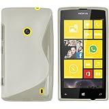 mumbi S-TPU Schutzhülle Nokia Lumia 520 Hülle transparent weiss