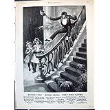 Niños 1893 del Jabón de la Marca del Mono de Brooke del Anuncio Que Deslizan las Escaleras