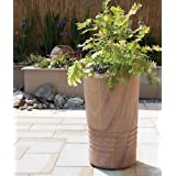 Large Garden Planter - Polished Rainbow Stone Plant Pot