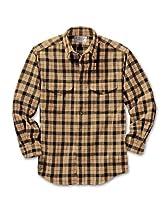 Filson Alaskan Guide Long Sleeve Shirt (Camel/Black Plaid - Large)