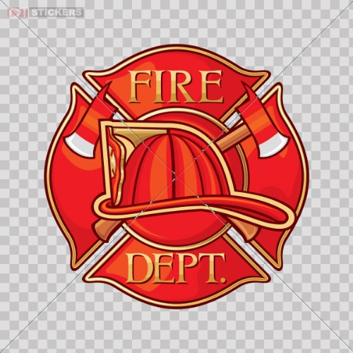 Sticker Vinyl Decals Fire Dept Logo Car Window Wall Art Decor Doors Helmet Truck Motorcycle Note Book Mobile Laptop Size: 5 X 5 Inches Vinyl color print (Fire Dept Window Decal compare prices)