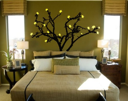 Vinyl Wall Art Decal Sticker Tree Leaves Blossom (6ft Tall)