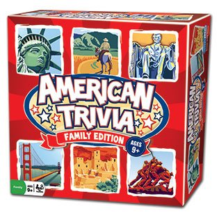 Trivia Game - American Trivia Family Edition - the America Themed Family Board Game (American Games compare prices)