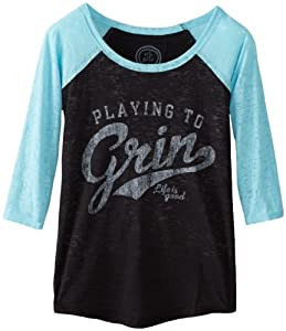 Life is good Ladies Baseball Playing To Grin Tee by Life is Good