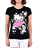 tokidoki Hello Kitty Sakura Women's Black T-Shirt Tee (Large)