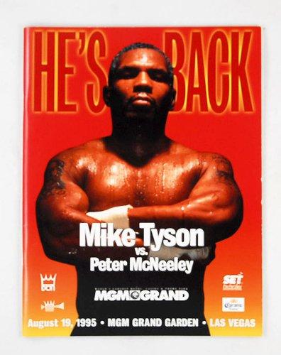 マイク・タイソン vs マクニーリー ボクシング パンフ