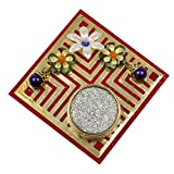 Twisha Square Candle Jali Stand Red Color