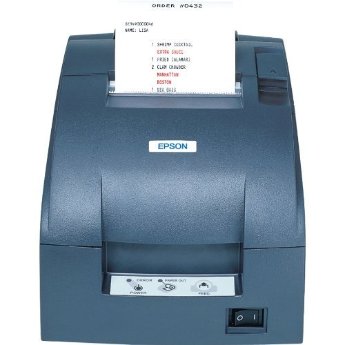 Thermal  monochrome receipt printer with Ethernet interface, external power supply and auto cutter