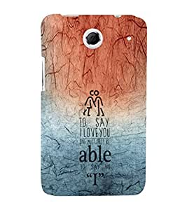 EPICCASE able to say I Mobile Back Case Cover For Lenovo S880 (Designer Case)