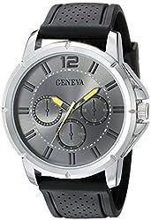 Geneva Mens FMDJM505D Analog Display Japanese Quartz Black Watch
