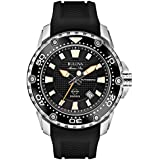 Bulova Marine Star Men's Automatic Watch with Black Dial Analogue Display and Black Rubber Strap - 98B209