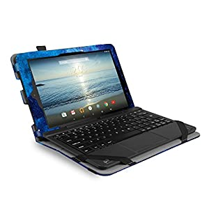 Famavala Folio Case Cover For 10 inch RCA 10 Viking Pro / Viking II / Cambio W101 (V2) 10.1 Tablet (BlueSky)