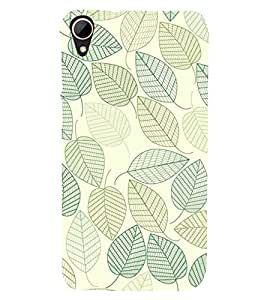 printtech Abstract Leaf Pattern Back Case Cover for HTC Desire 828 dual sim