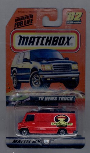 Matchbox 1998-62 of 100 Series 13 Science Fiction Tv News Truck 1:64 Scale by Mattel