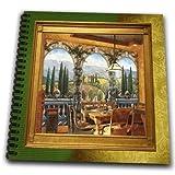 db_18386_2 Susan Brown Designs Places Themes - Tuscan Villa - Drawing Book - Memory Book 12 x 12 inch