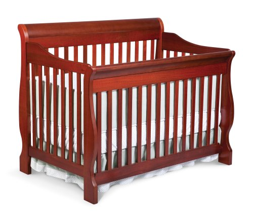 Best Review Of Delta Canton 4-in-1 Convertible Crib, Dark Cherry