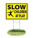 Headline Sign 4731 Yard Sign, Slow/Children At Play, 18 Inches by 24 Inches
