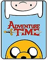 Adventure Time 120 x 150 cm 100 Percent Polyester Fleece Blanket, Multi-Colour