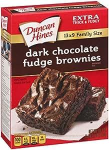 Duncan Hines Dark Fudge Brownie Mix 517 g (Pack of 6)