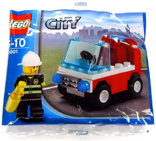 LEGO City Exclusive Mini Figure Set #30001 Firemans Car Bagged - 1