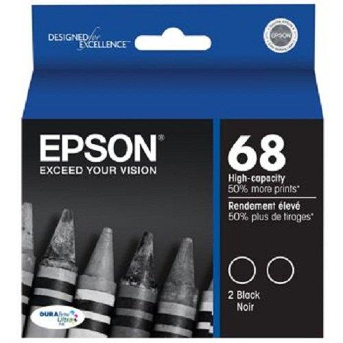 Epson DURABrite T068120-D2 Ultra 68 High-capacity Inkjet Cartridge Multipack -2 Black